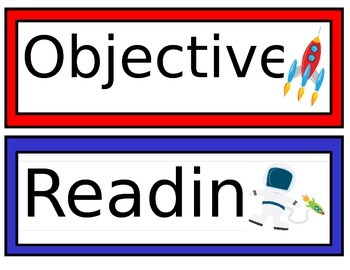 Space Themed Objectives