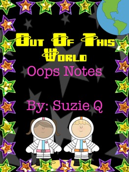Space Themed Oops Notes