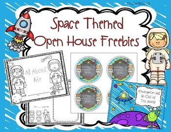 Space Themed Open House Freebies