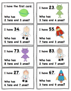 I Have, Who Has? Place Value 0-99