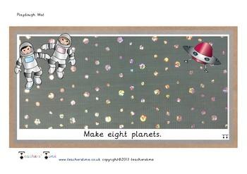 Space Themed Playdough Mats