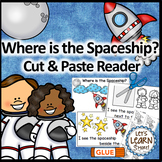 Space Themed Positional Word Cut & Paste Emergent Reader (