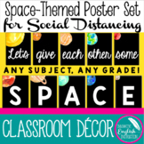 Space-Themed Posters for Classroom Social Distancing (Bull