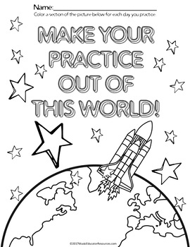 Space Themed Practice Charts