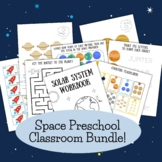 Space Themed Preschool Learning Bundle