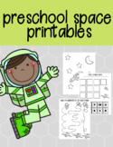 Space Themed Preschool Prewriting Printables