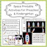 Space-Themed Printable Activities for Preschool and Kindergarten
