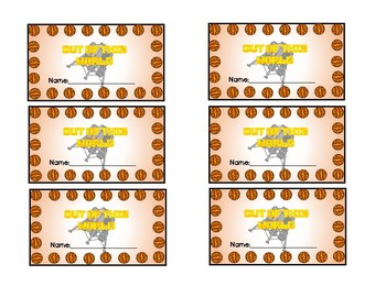 Space Themed Punch Cards
