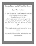 Space Themed Read and Write the Room - Sight  Word Edition