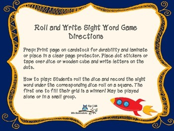 Space Themed Roll and Write Literacy Activities