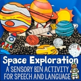 Space Themed Sensory Bin for Speech and Language Skills