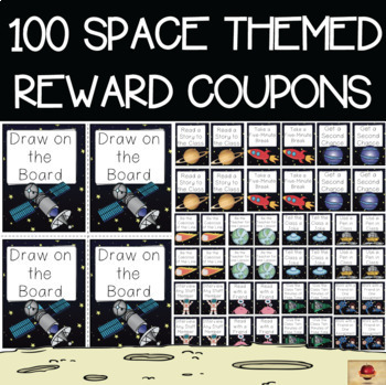 Space Themed Set of 100 Reward Coupons