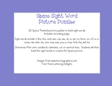 Space Themed Sight Word Picture Puzzles