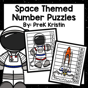 Space Themed Skip Counting Number Puzzles