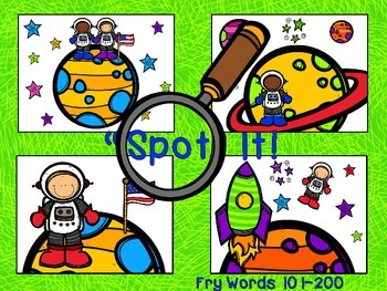 Space Themed Spot and Jot - Fry Words 101-200