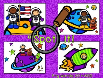 Space Themed Spot and Jot - Fry Words BUNDLE