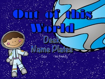 Space Themed Student Desk Name Plates (Name Tags)
