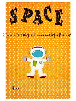 Space Themed Student Organizational Binder