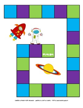 Space Themed Subtraction File Folder Game