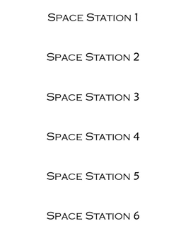 Space Themed Table Numbers