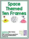 Space-Themed Ten Frames