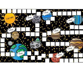 Space Themed Token Board Game Format