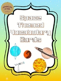 Space Themed Vocab Cards (with spelling activity!)