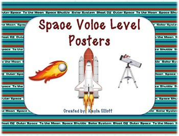 Space Themed Voice Level Posters