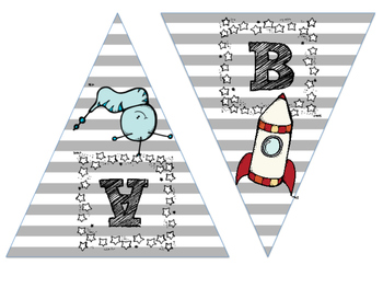 Space Themed Word Wall Letters