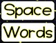 Space-Themed Word Wall Words