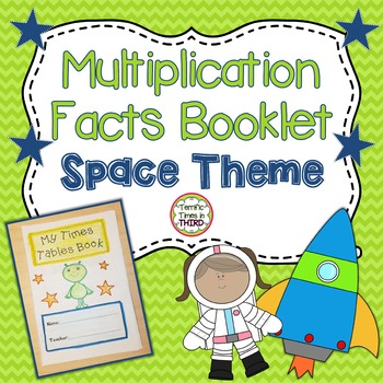 Multiplication Facts Booklet: Space Theme