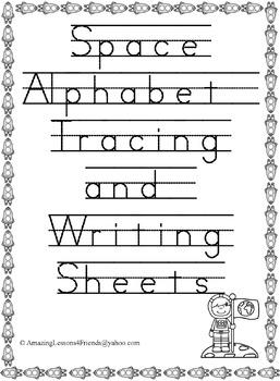 Space Tracing and Writing Sheets (NO PREP)