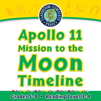 Space Travel & Technology: Apollo 11 Mission to the Moon Timeline - MAC Gr. 5-8
