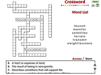 Space Travel & Technology: Crossword - NOTEBOOK Gr. 5-8
