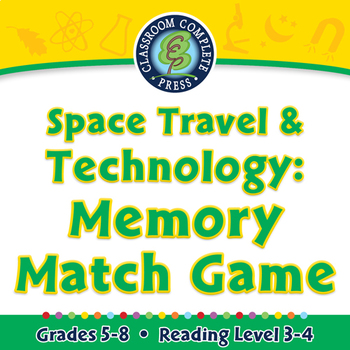 Space Travel & Technology: Memory Match Game - PC Gr. 5-8