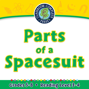 Space Travel & Technology: Parts of a Spacesuit - NOTEBOOK Gr. 5-8