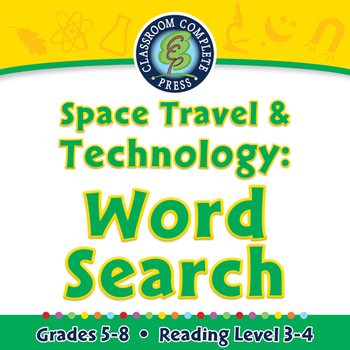 Space Travel & Technology: Word Search - PC Gr. 5-8