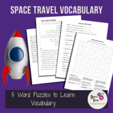 Space Travel Vocabulary Puzzle Packet