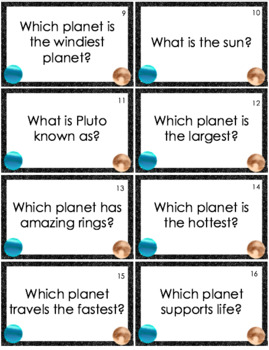 Space Trivia Cards