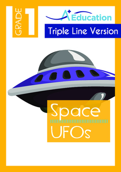Space - UFOs (I) - Grade 1 (with 'Triple-Track Writing Lines')
