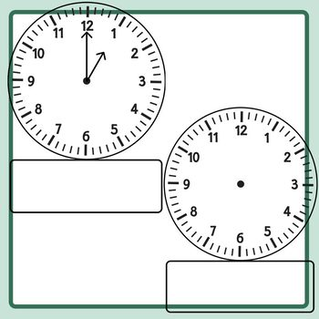 Space Under Clocks Templates / Telling Time Clip Art Commercial Use