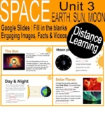 Space Unit 3 | Earth, Sun, Moon | Google slides | Distance