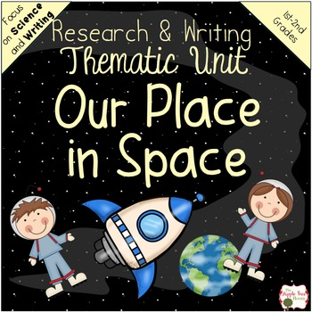 Space Planets Unit {1st 2nd CCSS Informative Writing + Cra