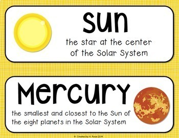 Space and Solar System Distance Learning