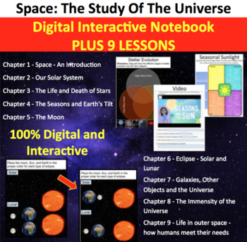 Space Unit - Complete Digital Interactive Notebook PLUS 9 Corresponding Lessons