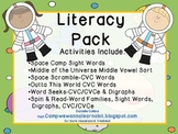 Space Unit Literacy centers-differentiated