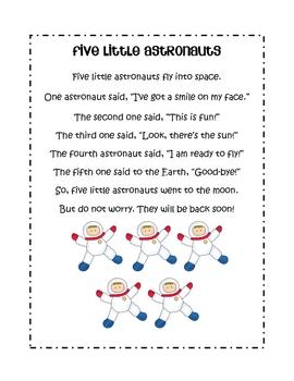Space Unit Literacy & Math Centers