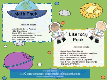 Space Unit: Math & Literacy Centers  Differentiation Friendly
