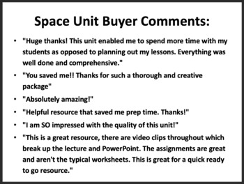 Space Unit: The Study of the Universe - Google Slides and PowerPoint