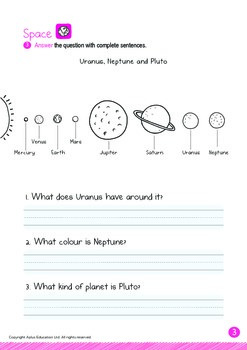 Space - Uranus, Neptune & Pluto (I): Digraphs CH, SH - Kindergarten, K3 (age 5)